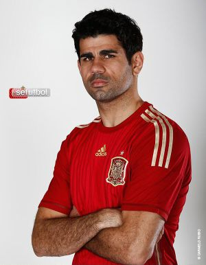 Diego Costa in the Spanish national side's shirt.