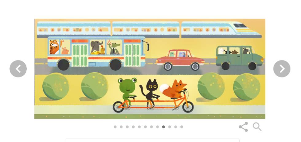 Uma das imagens do Doodle animado do Google, que celebra o Dia da Terra 2017.