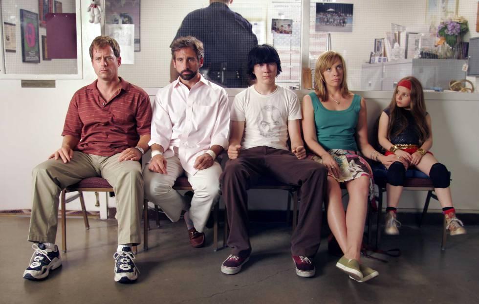 Cena do filma 'Pequena Miss Sunshine', que aborda relações familiares.