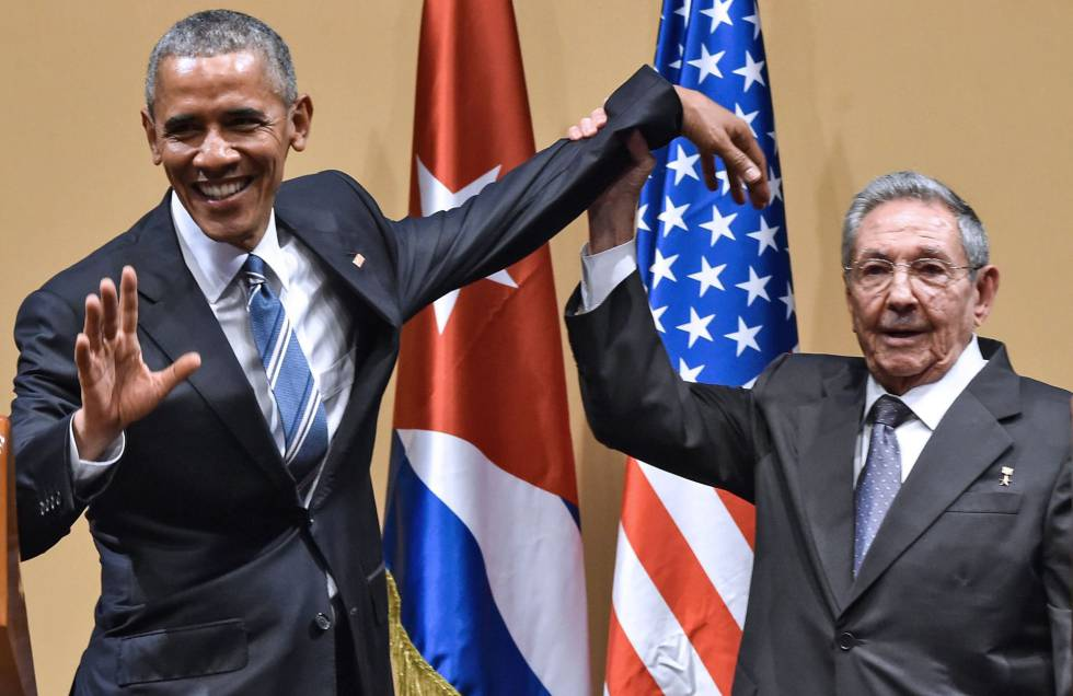 Obama e Raúl Castro em Havana em março de 2016.