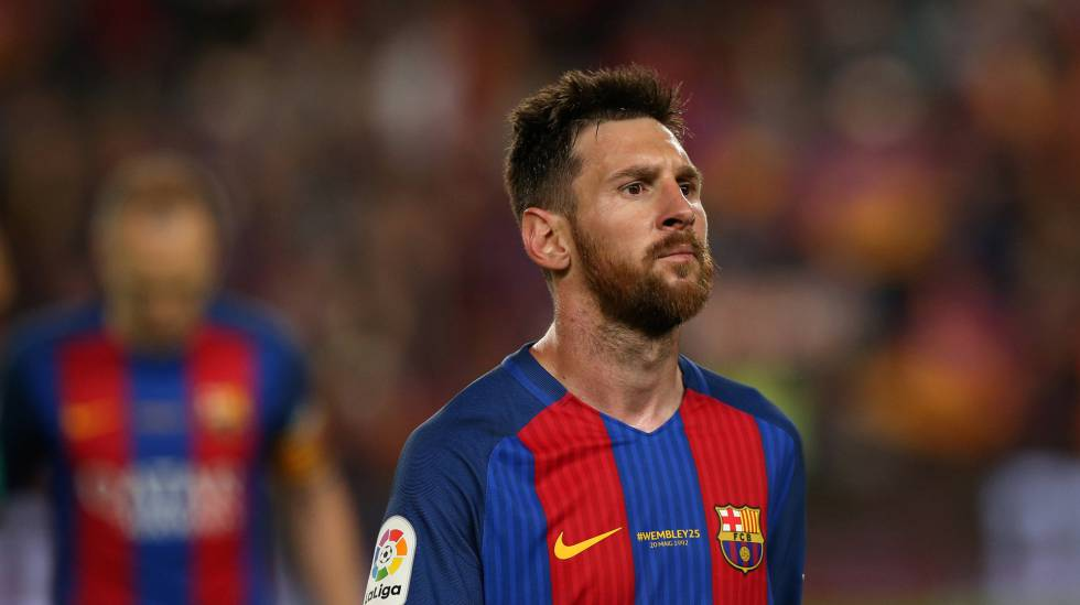 Messi, no domingo passado, no Camp Nou.