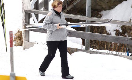 Angela Merkel, em uma estação de esqui, no último Natal.