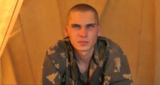 Um dos 10 militares russos capturados.