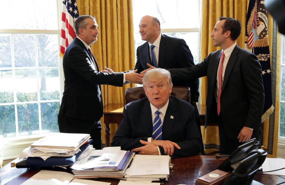 Donald Trump, no Salão Oval nesta quarta-feira.