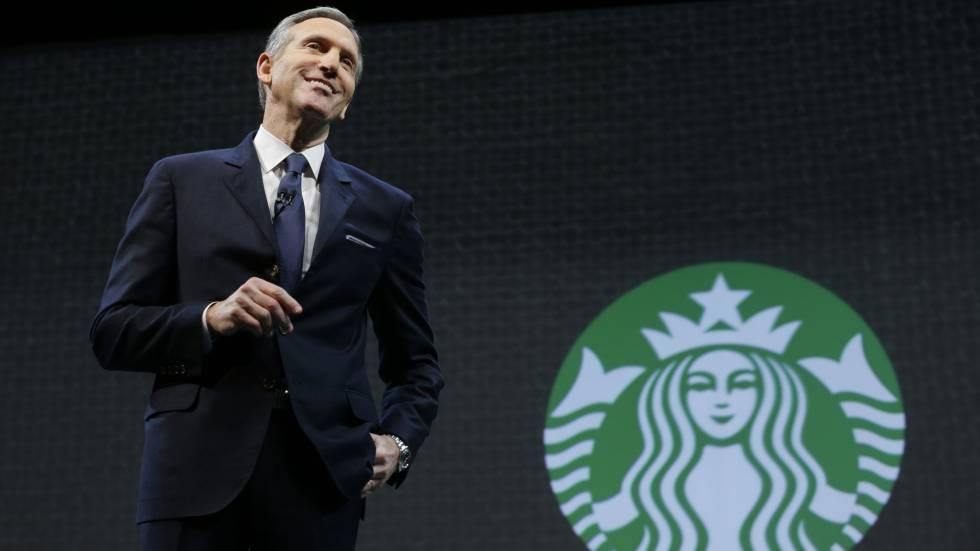 O presidente do Starbucks, Howard Schultz.
