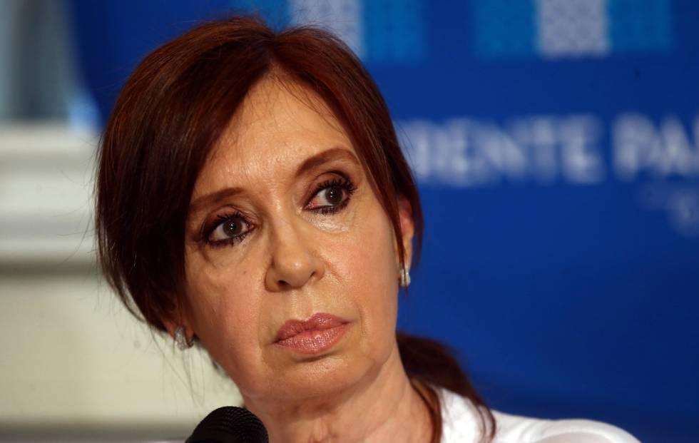 Cristina Fernández de Kirchner, nesta quinta-feira em Buenos Aires.