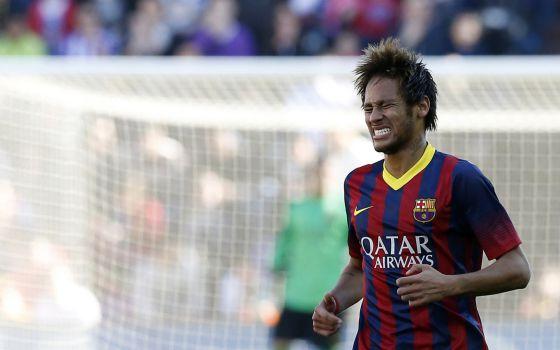 Neymar, durante o jogo contra o Valladolid.