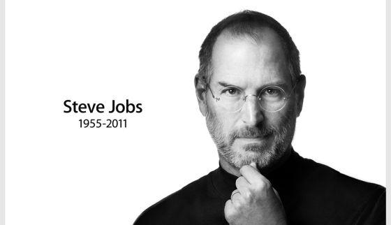 Anúncio da morte de Steve Jobs feito pela Apple.