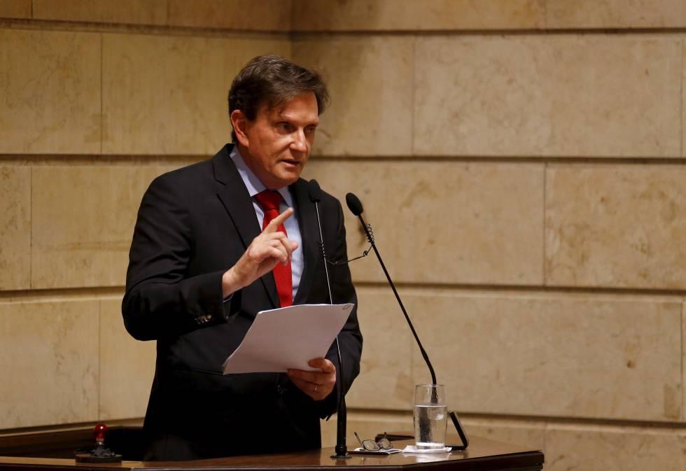 Crivella, durante discurso em sua posse como prefeito do Rio