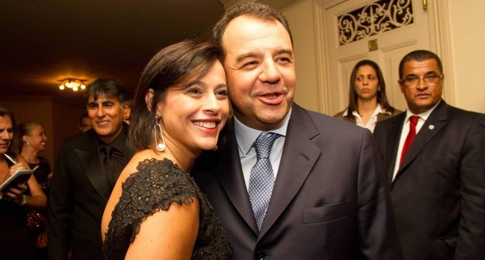 Adriana Ancelmo e Sergio Cabral, em 2011.