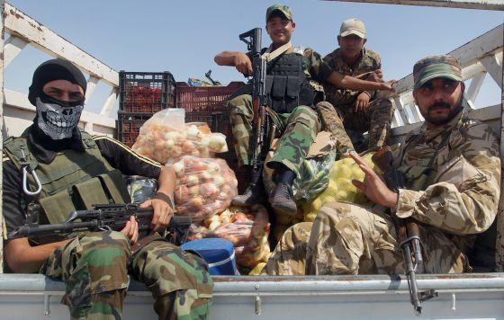 Fuerzas iraquianos junto à localidade de Amerli.