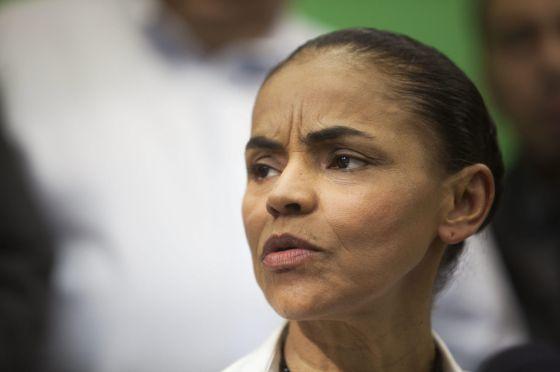 Marina Silva, na sexta-feira em São Paulo.