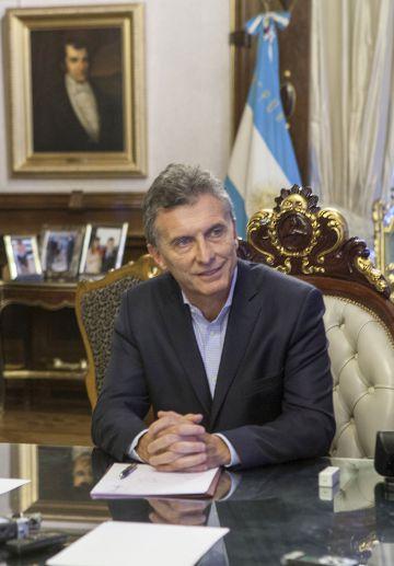 O presidente argentino, Mauricio Macri, nesta segunda-feira em Buenos Aires.