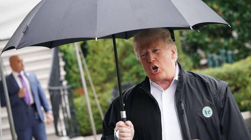 Trump fala com a imprensa nesta segunda-feira na Casa Branca
