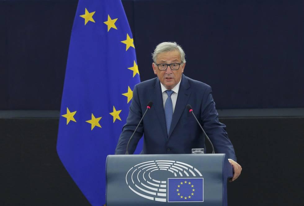 Presidente da Comissão Europeia, Jean-Claude Juncker, em discurso sobre o estado da União.