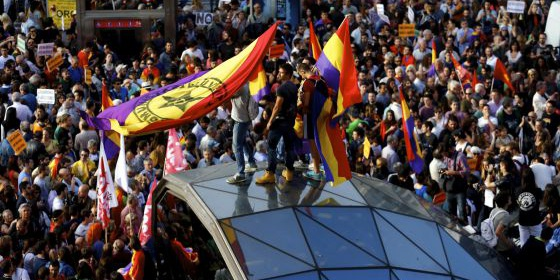 Manifestação pela República em Sol, Madri, em 2 de junho.