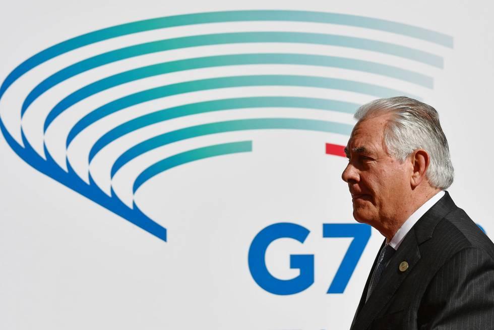 O secretário de Estado dos EUA, Rex Tillerson, nesta segunda-feira em Lucca, Itália.