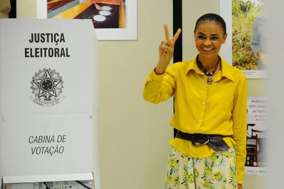 Marina Silva, nas eleições de 2014.
