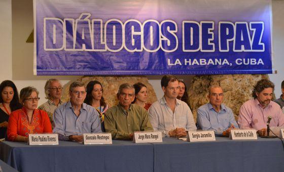 A equipe negociadora do Governo, em Havana