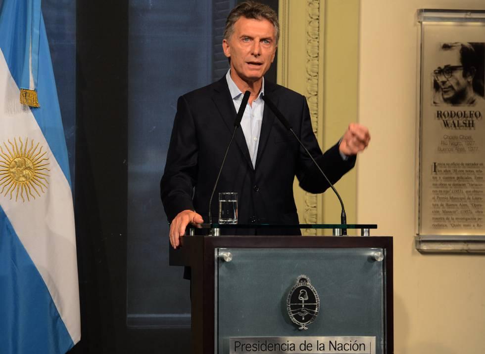 Mauricio Macri, em Buenos Aires, na última terça-feira.