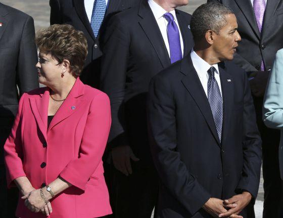 Dilma Rousseff e Barack Obama.