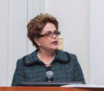 Dilma fala na Brazil Conference.