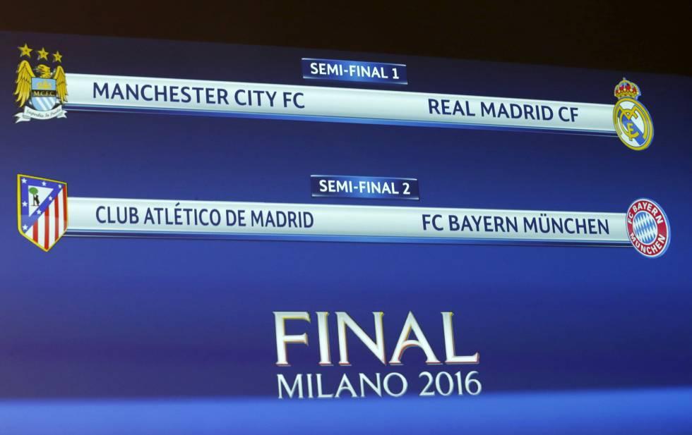Os duelos das semifinais da Champions.