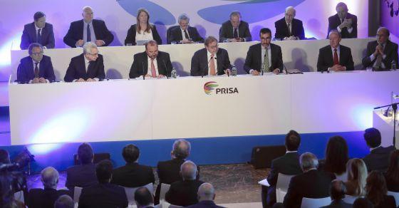 Junta geral de Acionistas do Grupo Prisa no mês passado.