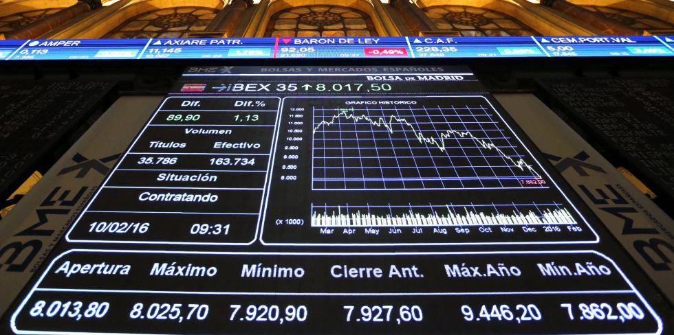 O Ibex, como o resto das bolsas mundiais, se viu afetado pela desconfiança na banca europeia.