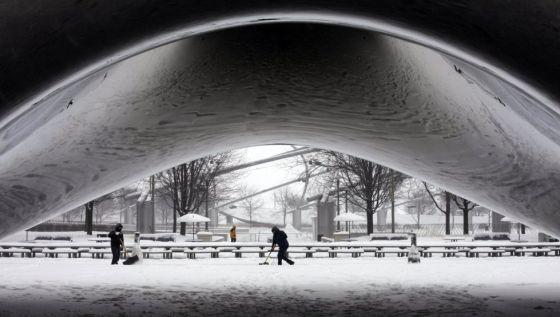 Imagem do Cloud Gate, em Chicago.