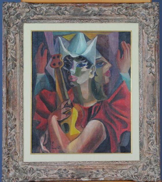 Obra de Di Cavalcanti, que faz parte da exposição.