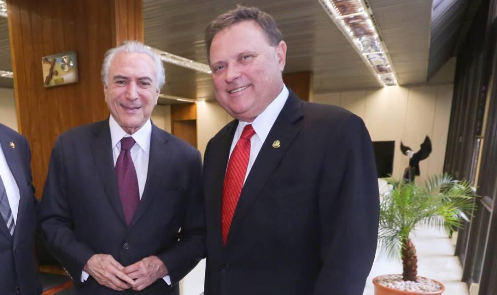 """Michel Temer e o senador Blairo Maggi, o """"rei da soja""""."""