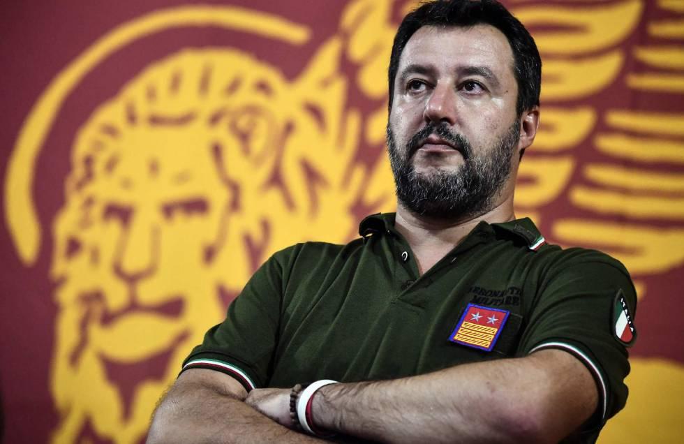 Matteo Salvini, líder da Liga, na última sexta-feira em Pádua.