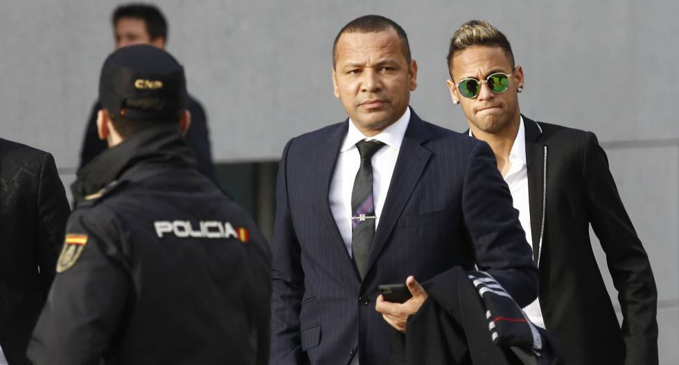 Neymar e seu pai.