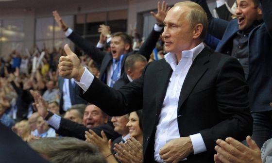 O presidente russo, Vladimir Putin, na Sibéria.