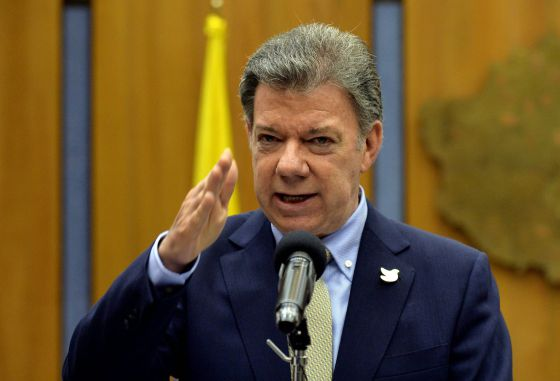 O Presidente de Colombia, Juan Manuel Santos.