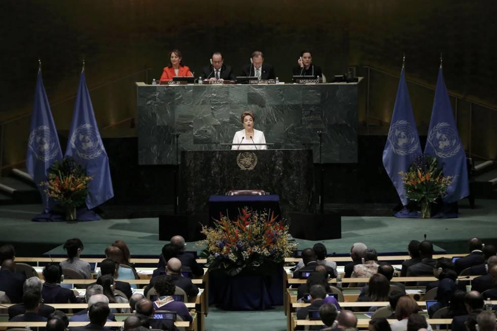 Dilma Rousseff na ONU.
