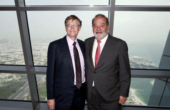Bill Gates, esquerda, e Carlos Slim, em uma foto de arquivo.