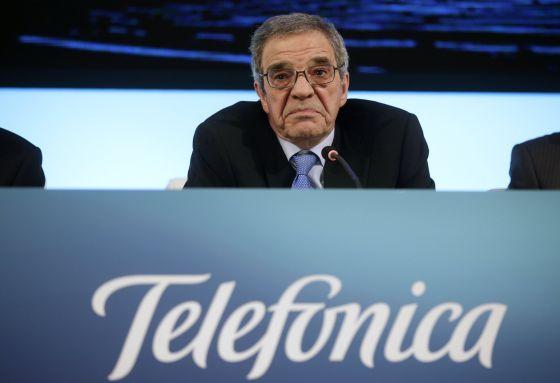 O presidente de Telefónica na Espanha, Cesar Alierta.