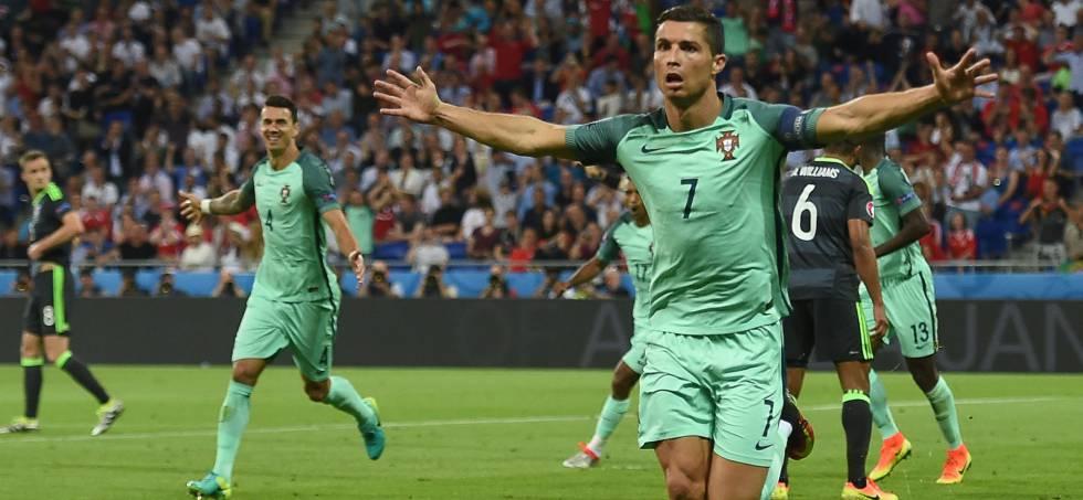 Portugal x País de Gales: Ronaldo fez o primeiro.